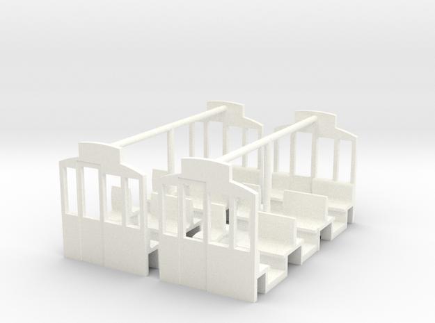 (H0m) - Inneneinrichtung für Herbrand-Beiwagen in White Processed Versatile Plastic