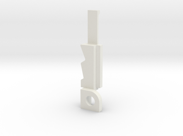 Sony ICF radio antenna mount in White Strong & Flexible