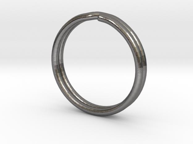 One Inch Keychain in Polished Nickel Steel