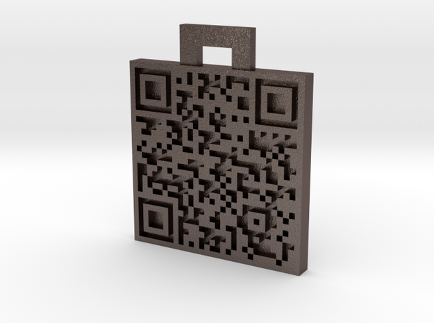 QRCode -- My name is Mike, and you\'re a nerd. 3d printed