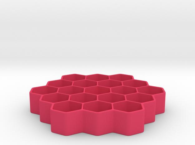 Honeycomb Battery Dispenser AA 3d printed