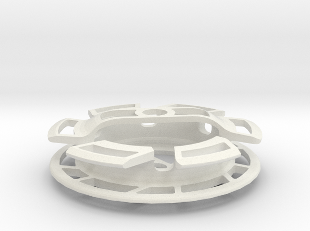 Gear Cage in White Natural Versatile Plastic