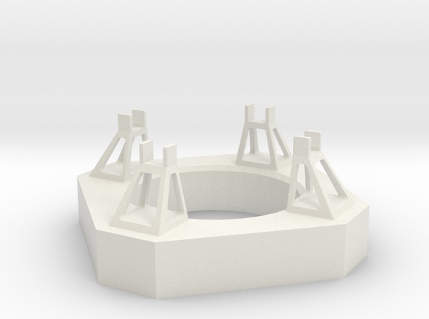 1/400 Von Braun Launch Pad in White Natural Versatile Plastic