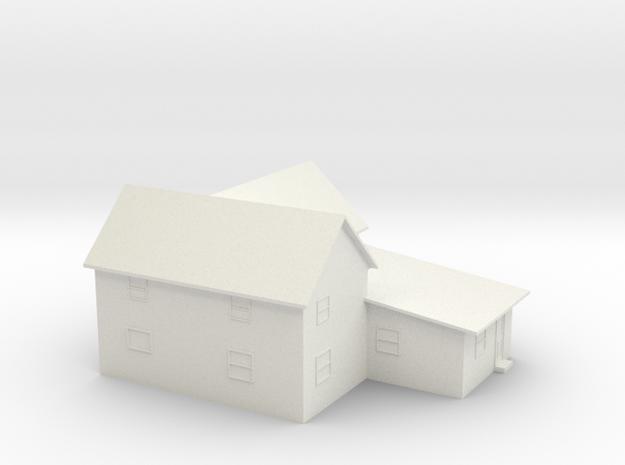 Custom House Model in White Natural Versatile Plastic
