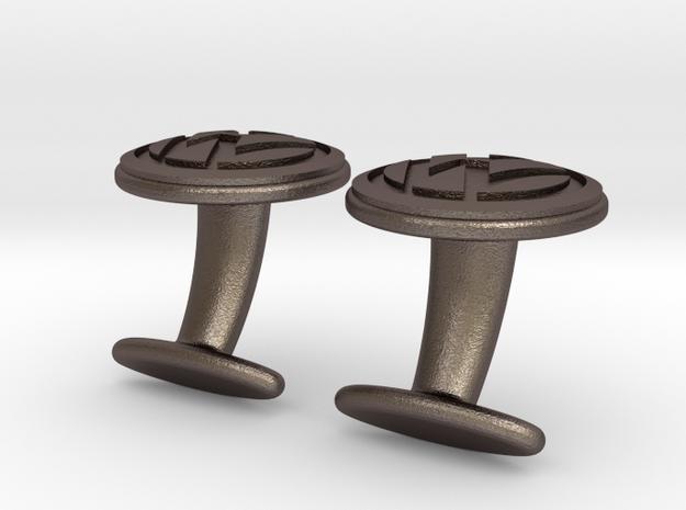 VW Cufflink 3d printed