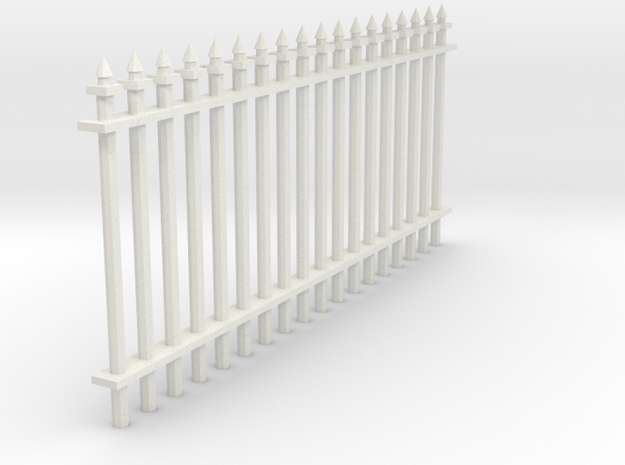 Fence 1 in White Natural Versatile Plastic