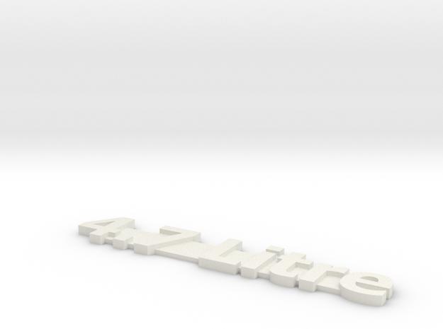 4.7 Litre in White Natural Versatile Plastic