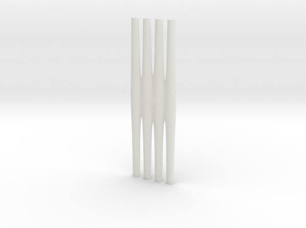 Juliusbulb-csf6-2-8-500 in White Natural Versatile Plastic