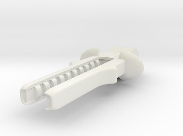 15mmAlienTankBarrel in White Natural Versatile Plastic