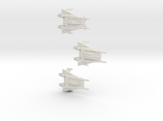 Thunder Fighter Variants 1/270 (Buck Rogers) 3d printed