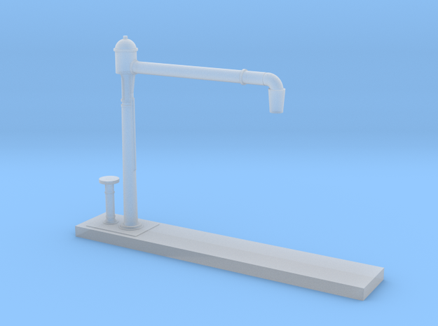 Z Scale Water Crane Model Variant C in Smooth Fine Detail Plastic