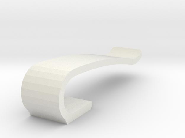 Flash drive brooch 'Curve' in White Natural Versatile Plastic