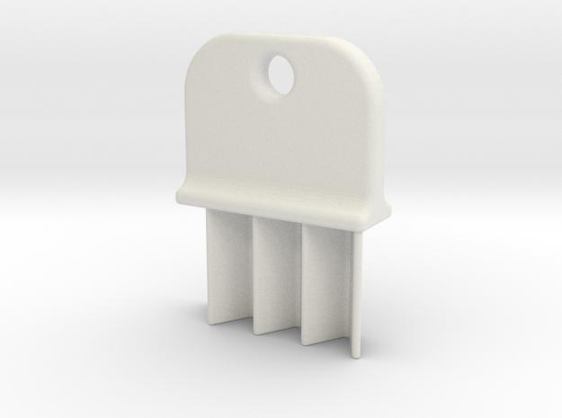 Paper Towel Key in White Natural Versatile Plastic