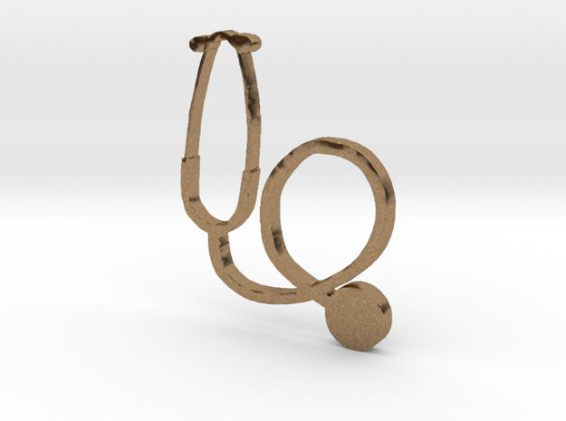 stethoscope in Raw Brass