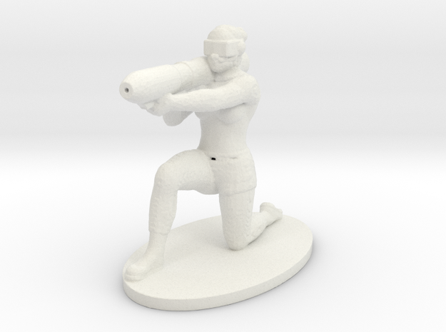 Mentak Infantry in White Natural Versatile Plastic