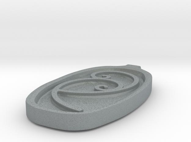 FibonacciPendent in Polished Metallic Plastic