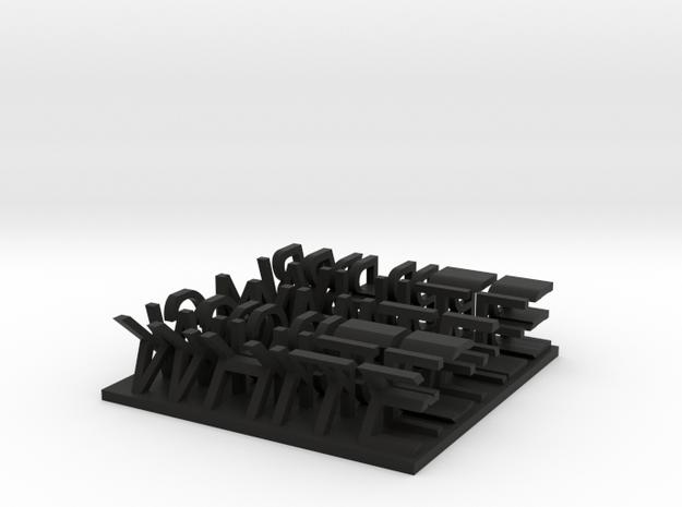 BLACK & WHITE 3d printed