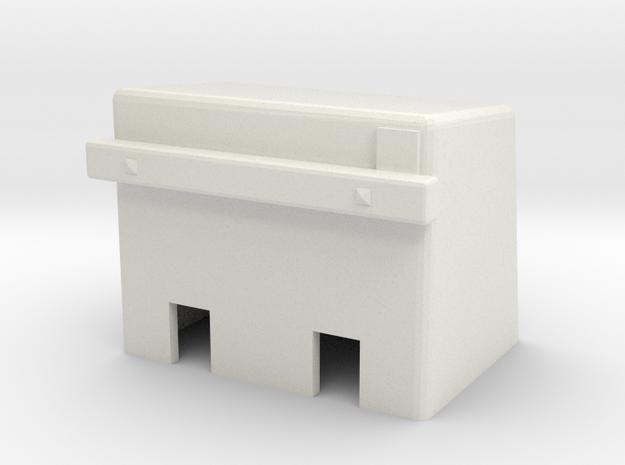 H0e Betonprellbock Aufsatzmodell in White Strong & Flexible