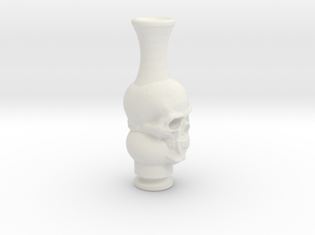Skull Driptip in White Natural Versatile Plastic