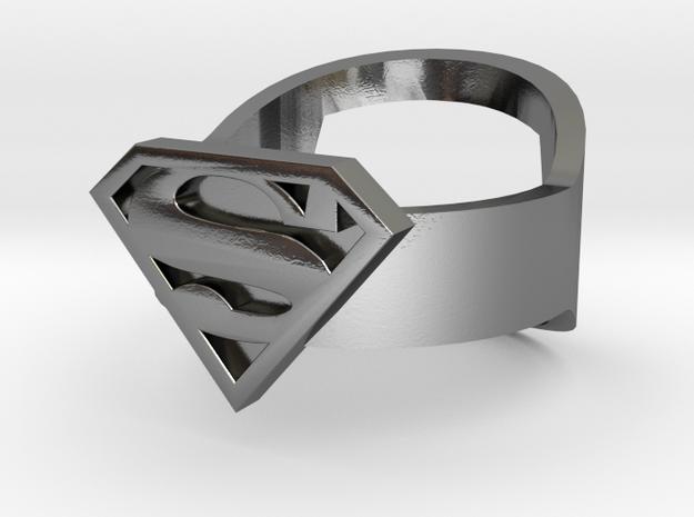 Superman Ring - Bottle Opener band or regular 3d printed