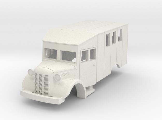 Austin K2 (Bellewagen 1) in HO in White Strong & Flexible