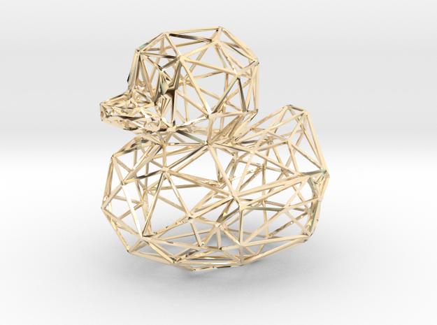 50mm-wireframe-duck in 14K Yellow Gold