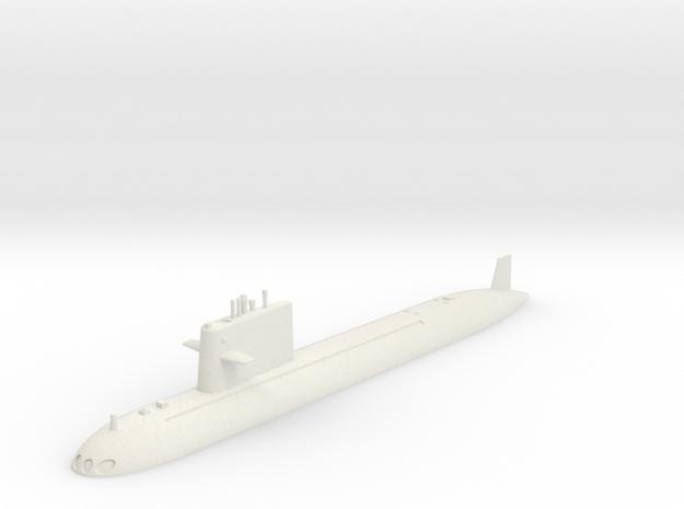 1/700 Type 091 Submarine (Waterline) in White Natural Versatile Plastic