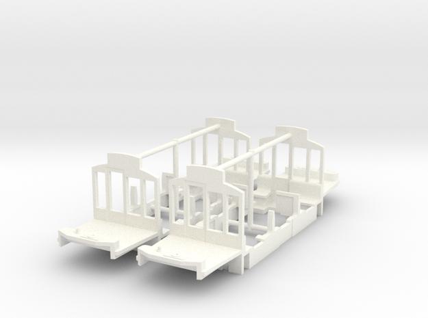(H0m) - Inneneinrichtung für TW der AG E&M Weimar in White Processed Versatile Plastic
