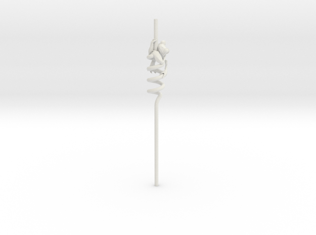 Alcoholic Frog Straw in White Natural Versatile Plastic