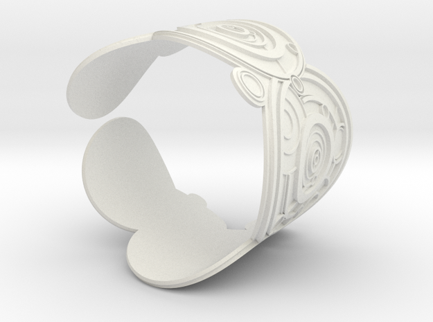 The Doctor's name (Embossed): Cuff in White Natural Versatile Plastic: Extra Small