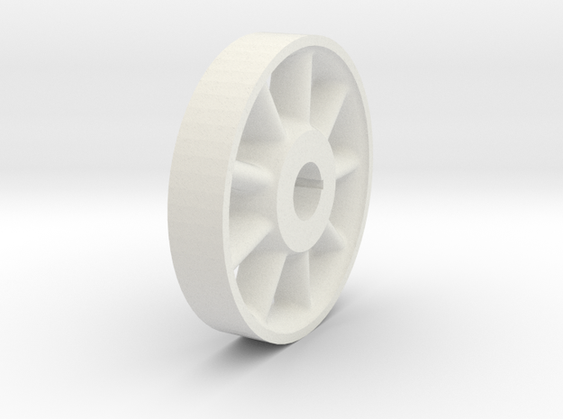 Wheel Center -1-8th in White Natural Versatile Plastic