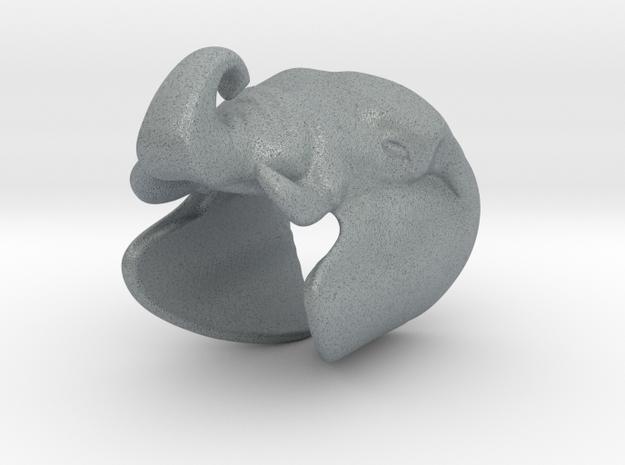 Elephant Gripper 23mm in Polished Metallic Plastic