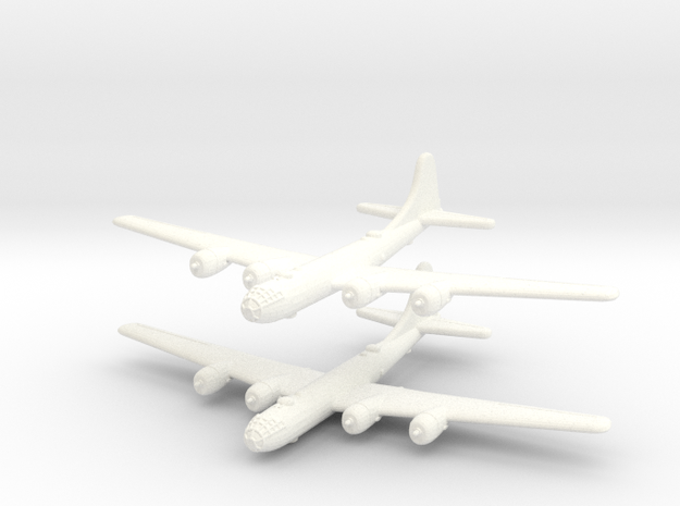 B-29 Superfortress (United States) 1/600-(Qty. 2) in White Processed Versatile Plastic