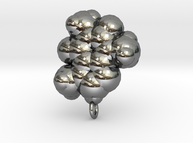 Caffeine pendant / earring large. 3d printed