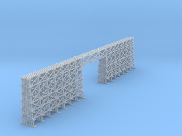 Wood Trestle Bridge 190 Ft in Smooth Fine Detail Plastic