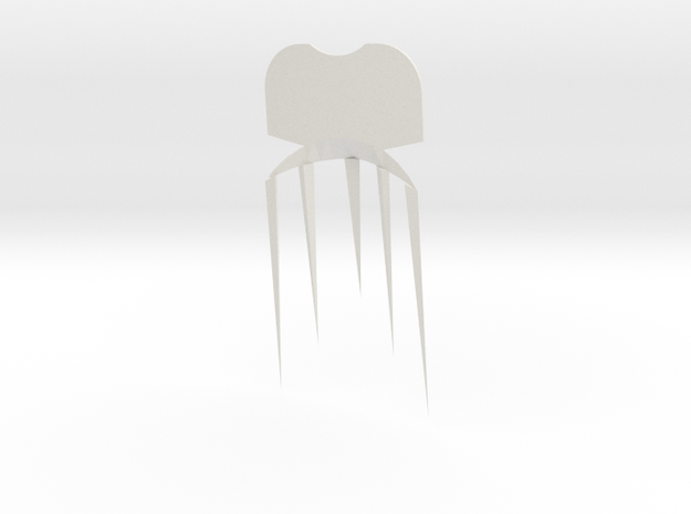 Face2comb in White Natural Versatile Plastic