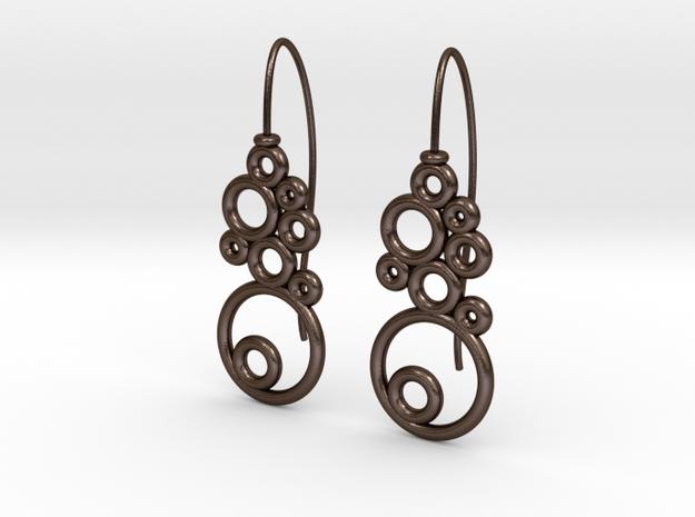 Orecchini-bolle in Polished Bronze Steel