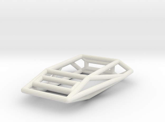 Adder Wireframe 1-300 in White Natural Versatile Plastic