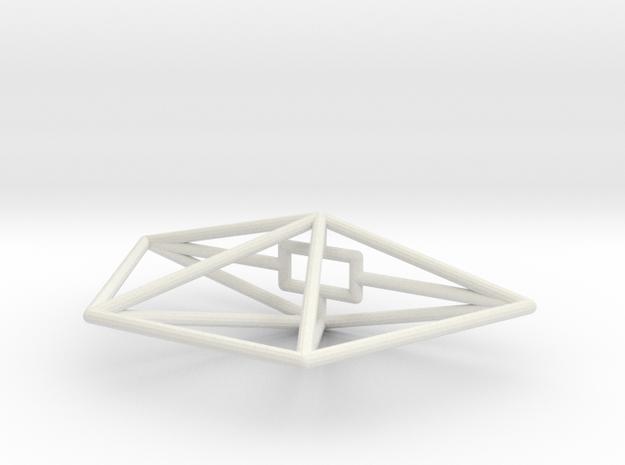 Sidewinder Wireframe 1-300 in White Natural Versatile Plastic