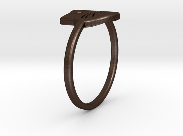 Meow Ring (Size 8) 3d printed