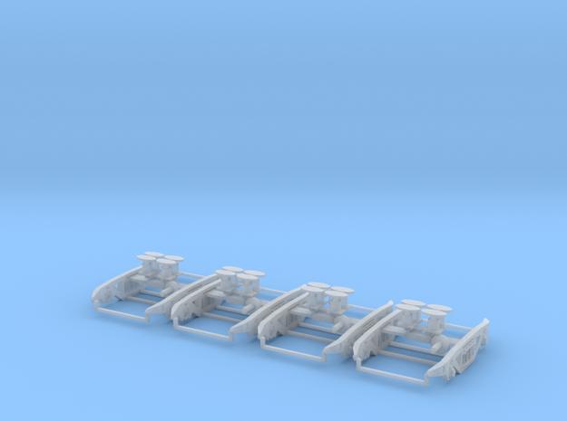 PXA MK2 bogies for PXA bogie box 2 wagons worth in Smooth Fine Detail Plastic
