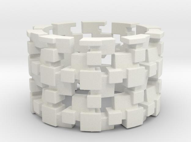 Tilt Cubes Ring Size 11 3d printed