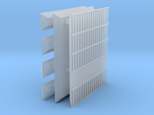 1/600 Shipping Container Stack of 5 in Smooth Fine Detail Plastic