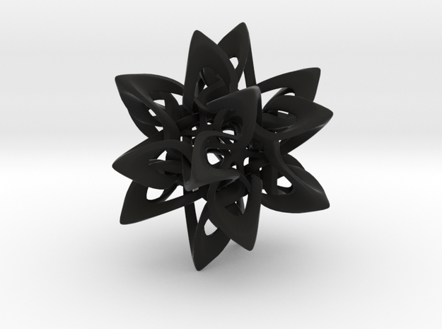 Dodecahedron X, large 3d printed