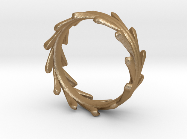Liquid Metal Feathered Ring 3d printed
