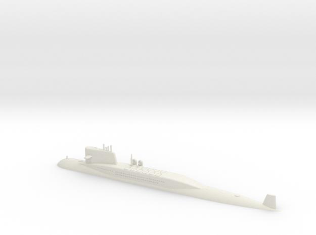 1/700 Type 092 (Xia Class) SSBN (Waterline) in White Natural Versatile Plastic