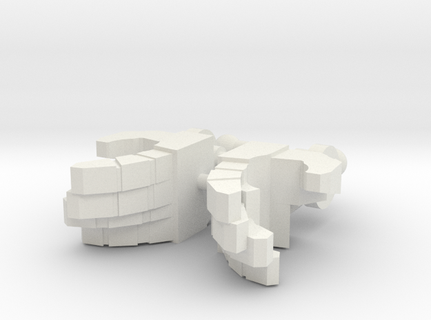 Hands Open Deluxe in White Natural Versatile Plastic