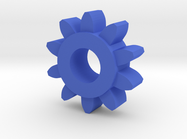 Involute Gear M1 T10 in Blue Strong & Flexible Polished