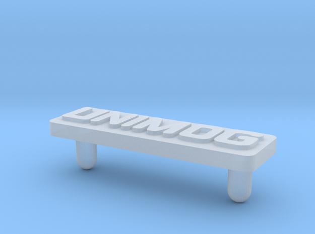 Unimog Plate - Playbig 3d printed