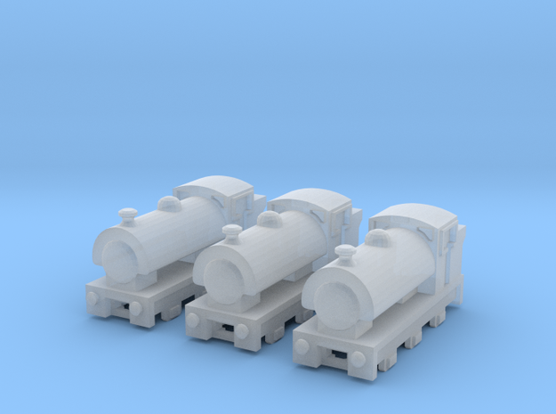 T-gauge Saddle Tank Engines - Uses Eishindo Wheels in Smooth Fine Detail Plastic